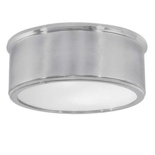 """Norwell Lighting 5378 Sandra 2 Light 13"""" Wide Flush Mount Ceiling Fixture with Ribbed Glass Shades"""