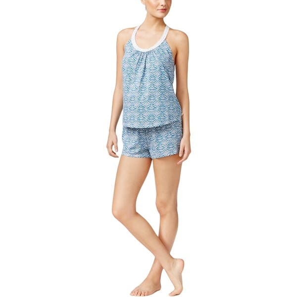 Lucky Brand Womens Pajama Set 2pc Geometric Overstock 19814007
