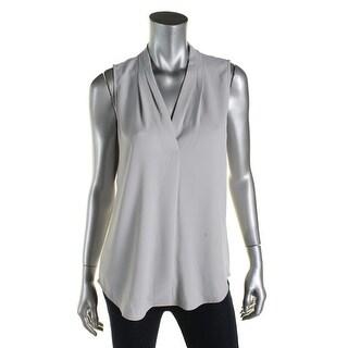 Calvin Klein Womens Blouse Sleeveless V-Neck