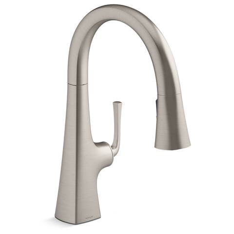 Kohler K-22063 Graze 1.5 GPM Pull Down Kitchen Sink Faucet with Three - Vibrant Stainless