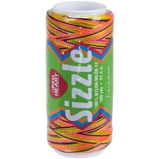 Red Heart Sizzle Crochet Nylon-Neon Mix