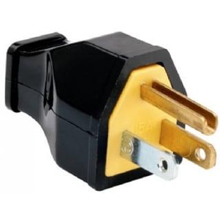 Pass & Seymour Straight Blade Plug, 15A, 125V, Black
