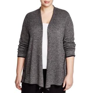 Eileen Fisher Womens Plus Cardigan Sweater Peplum Wool
