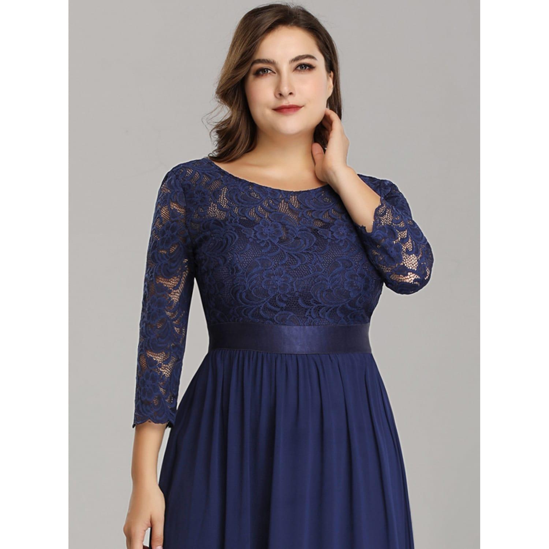 Ever-Pretty Women\'s Plus Size Elegant Lace Evening Party Dresses 74122