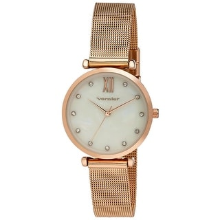 Link to Vernier Mother of Pearl Dial Stone Marker Mesh Strap Watch Similar Items in Women's Watches