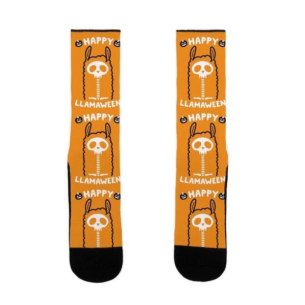 Happy Llamaween US Size 7-13 Socks by LookHUMAN
