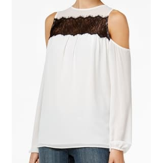 Michael Kors NEW White Black Women's Size XS Lace Cold-Shoulder Blouse|https://ak1.ostkcdn.com/images/products/is/images/direct/5daa4244c0ec410621a8d3429938ece99dd59833/Michael-Kors-NEW-White-Black-Women%27s-Size-XS-Lace-Cold-Shoulder-Blouse.jpg?impolicy=medium