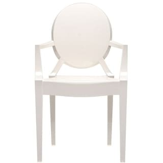 2xhome White Modern Style Clear Ghost Armchair Made From Polycarbonate
