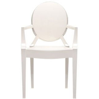 2xhome White Modern Style Ghost Armchair Made From Polycarbonate