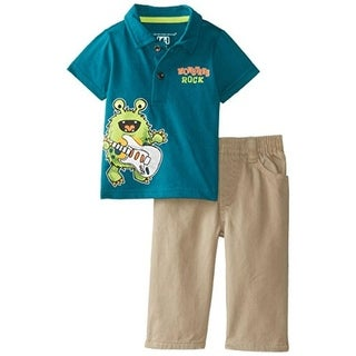 Kids Headquarters Infant Boys Twill Pant Outfit