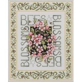 Bucilla Bees & Blossoms Counted Cross Stitch Kit