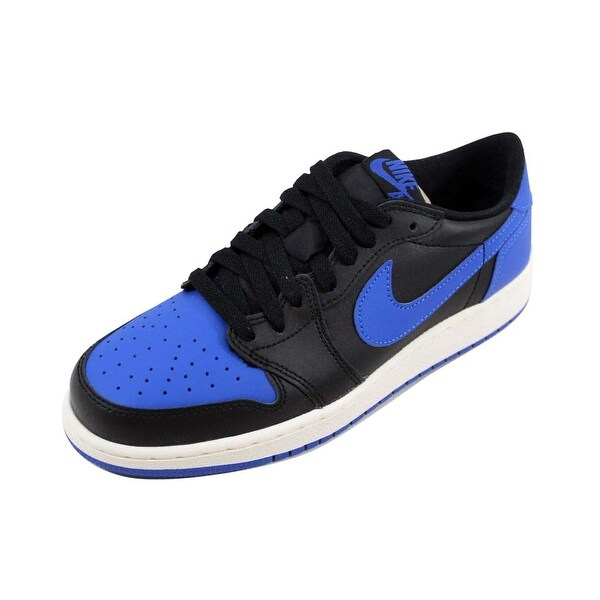 0b4e011b77a Shop Nike Grade-School Air Jordan I 1 Retro Low OG BG Black Varsity ...