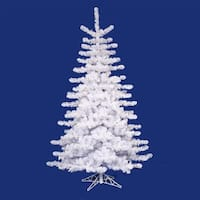 10' Pre-lit Crystal White Artificial Christmas Tree - Multi Lights