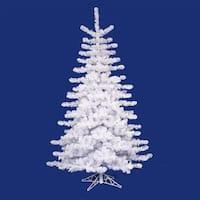 9' Pre-lit Crystal White Artificial Christmas Tree - Multi Lights