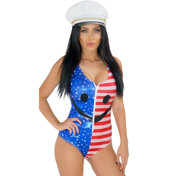 ea133fa896ea48 Shop Fourth Of July Flag Romper, Red White And Blue Lingerie - Red/White/ Blue - M - Free Shipping On Orders Over $45 - Overstock - 18286385