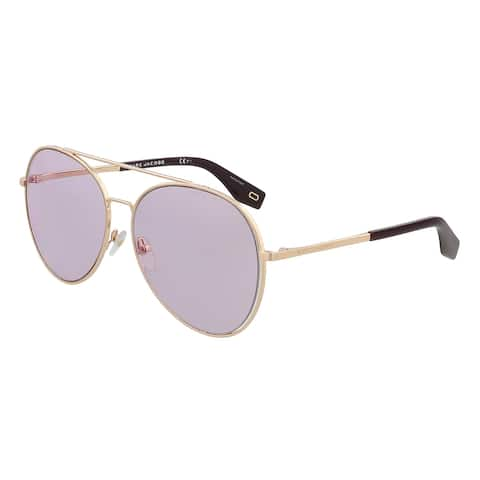 Marc Jacobs MARC 328/S 0T7 Rose Gold Aviator Sunglasses - 60-15-145