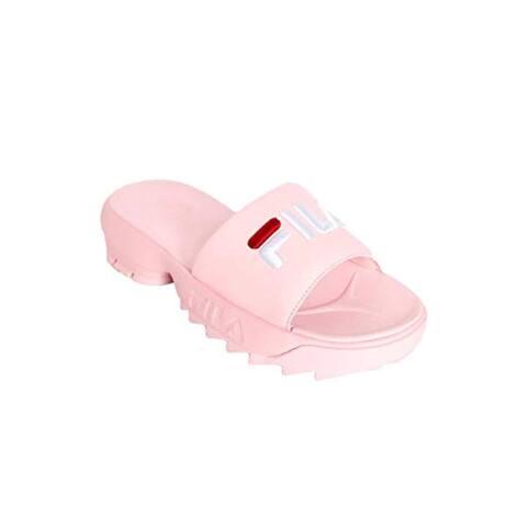 Fila Women's Disruptor Bold Slides (8, Pink/White/Red)