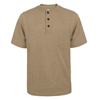 Link to Victory Outfitters Men's Fortified Cotton Extra Length Single Pocket Crewneck Henley Similar Items in Shirts