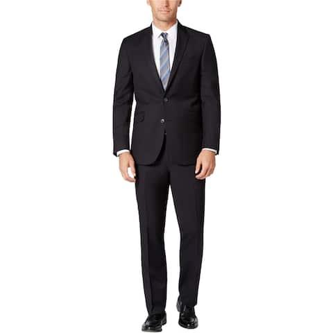 Kenneth Cole Mens Pindot Formal Tuxedo, Black, 42 Regular / 35W x 37L