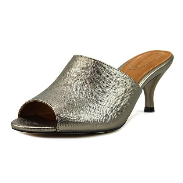 Corso Como Coral Women Open Toe Leather Silver Sandals