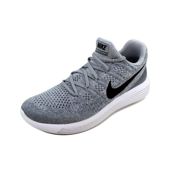 buy online 2cfbc f5803 Nike Men's Lunarepic Low Flyknit 2 Wolf Grey/Black-Cool Grey 863779-002