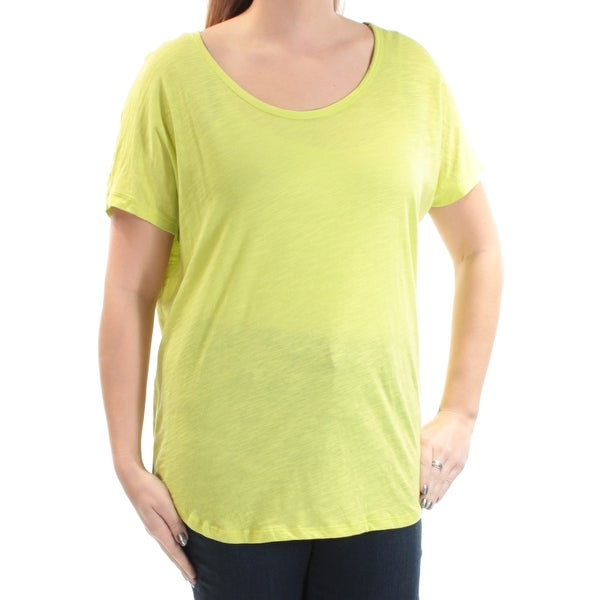 81040379e915 Shop MICHAEL KORS Womens Green Short Sleeve Jewel Neck Top Size  L - On  Sale - Free Shipping On Orders Over  45 - Overstock.com - 22424380