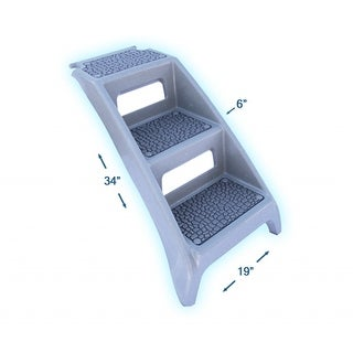 "PSUSA Booster Bath Step Grey 19"" x 6"" x 34"""