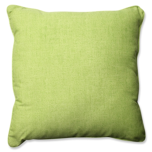 "25"" Baja Linen Lime Outdoor Square Corded Throw Pillow"