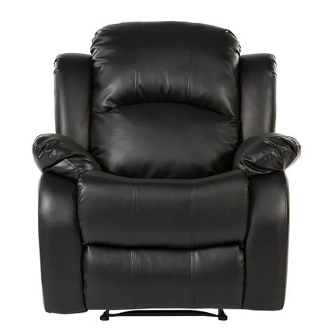 Oversize and Overstuffed Single Seat PU Leather Recliner Chair
