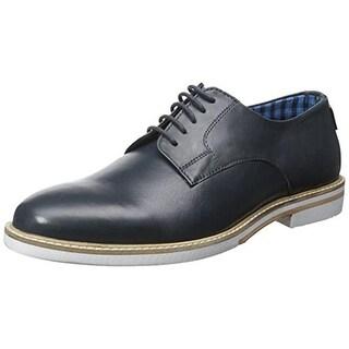 Ben Sherman Mens Julian Plain Ox Derby Shoes Leather Contrast Trim - 12 medium (d)