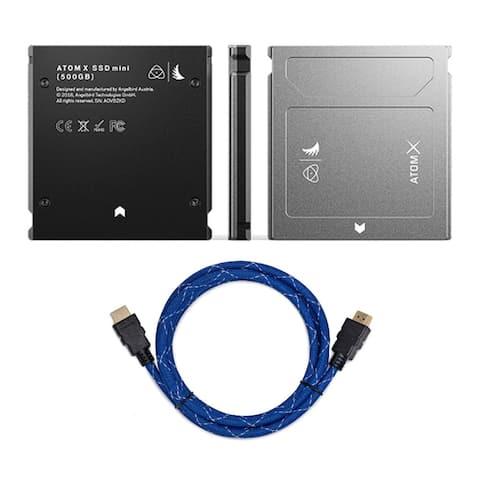 Angelbird AtomX SSDmini (500GB) and 4K HDMI Cable Bundle