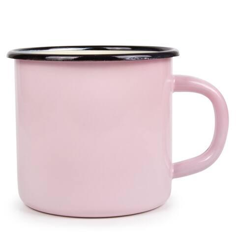 STP-Goods 13.5-oz Purple Rose Enamelware Mug