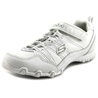 Skechers Biker II - School Star Youth Round Toe Leather White Running Shoe