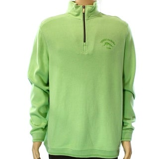 Tommy Bahama NEW Green Mens Size Large L Pullover Quarter Zip Sweater
