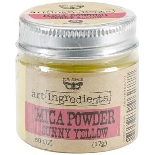 Finnabair Art Ingredients Mica Powder .6oz-Sunshine Yellow
