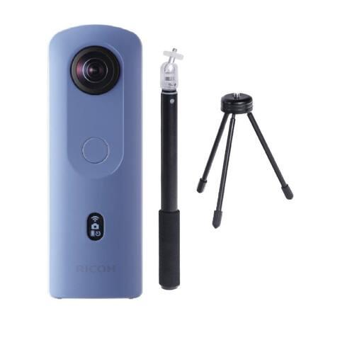 Ricoh Theta SC2 360-Deg 4K Spherical VR Camera w/ Selfie Stick Bundle