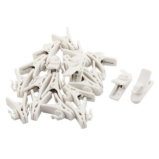 Mobile Phone Earphone Plastic Cable Wire Organizer Cord Clip White 20pcs