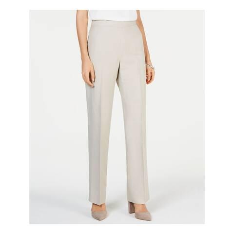 KASPER Womens Beige Side Zip Straight leg Wear To Work Pants Size 6