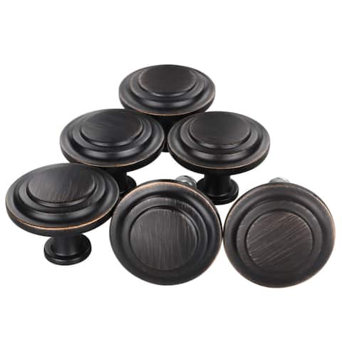 6 x Vintage Oil Rubbed Bronze Cabinet Pull Drawer Handle Knob Kitchen Hardware