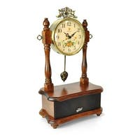 2-in-1 Retro Vintage Style Clock & Bluetooth Stereo Speaker System