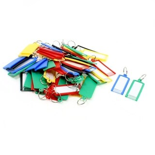 Unique Bargains 50 Pcs Plastic ID Card Name Tag Badge Clip Holder school Office Students Stationery Assorted Color