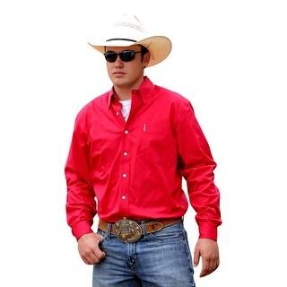 Cinch Western Shirt Mens Long Sleeve Modern Pocket Pink