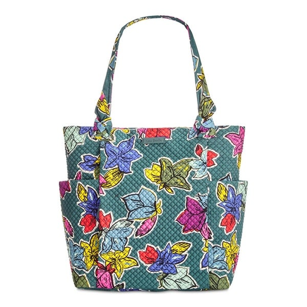08e013588d37 Shop Vera Bradley Womens Hadley Tote Handbag Quilted Floral Print - Large -  Free Shipping Today - Overstock - 23446442