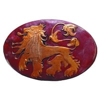 Game Of Thrones Metal Shield Pin Lannister - Red