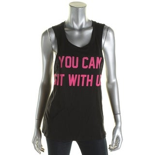 Rebellious One Womens Juniors Tank Top Knit Printed - S