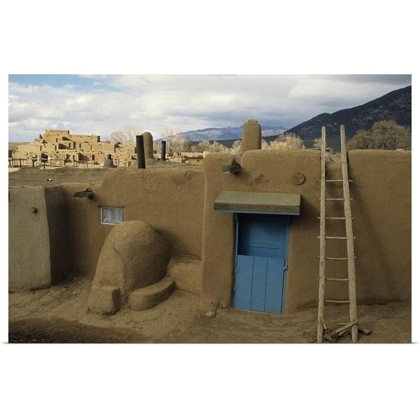 """Old buildings, Taos Pueblo, Taos, New Mexico, USA"" Poster Print"