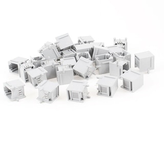 Link to 30pcs 90 Degree Push in Type RJ11 6P2C Network PCB Jacks Socket Connector Gray Similar Items in Cables & Connectors