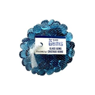 Darice Floral Glass Gems 12oz Ice Blue