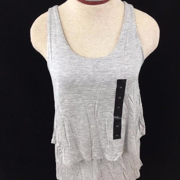 621fbc4600d0c Shop Banana Republic sleeveless top Size XS gray ruffle layered ...