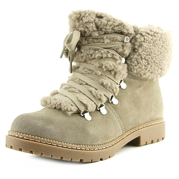 INC International Concepts Pamelia Women Round Toe Leather Tan Winter Boot